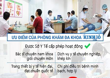 Phòng khám Kinh Đô hỗ trợ điều trị mọc mụn vùng kín hiệu quả