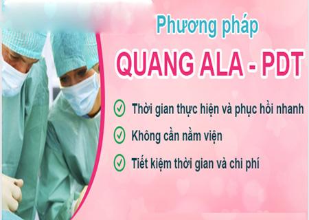 Phương pháp quang động lực ALA-PDT hỗ trợ điều trị sùi mào gà hiệu quả